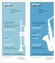 Flyergestaltung für die Konzertreihe TUHH goes music