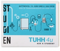 Corporate Design für die TUHH. Anwendungsbeispiel: Leporello mit Studieninformationen